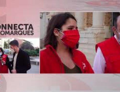 Els voluntaris de Creu Roja la Ràpita surten al carrer per fer sensiblització sobre l'epidèmia