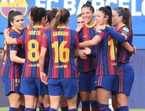 El Barça de Cortés i Navarro posa un peu i mig a quarts de la Champions