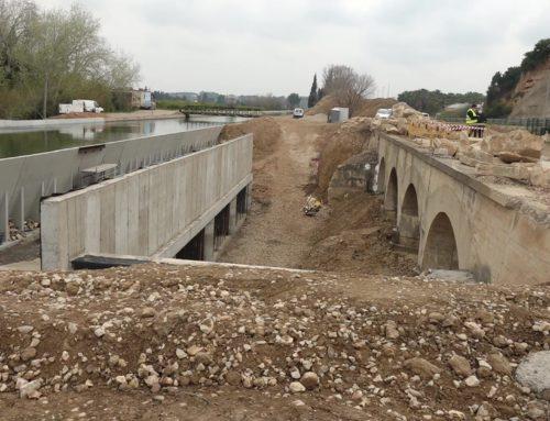 Renovat un tram del Canal de la Dreta de l'Ebre per evitar inundacions