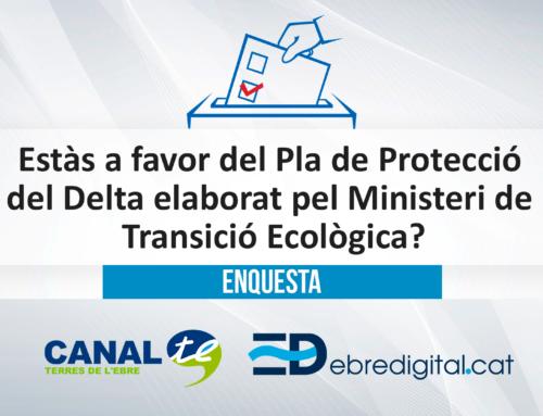 [ENQUESTA] Estàs a favor del Pla de Protecció del Delta de l'Ebre elaborat pel Ministeri de Transició Ecològica?