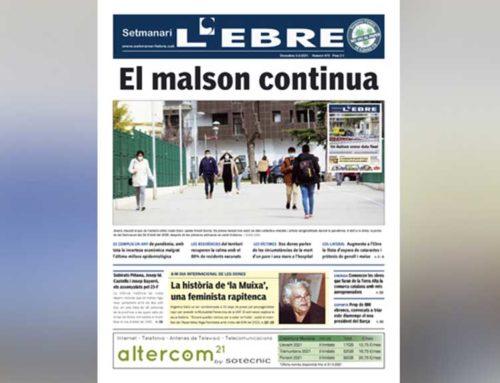 Un any de pandèmia al territori, a la portada de l'edició en paper del Setmanari l'EBRE
