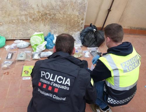 Els Mossos d'Esquadra i la Policial Local desarticulen un punt de venda de droga a Tortosa