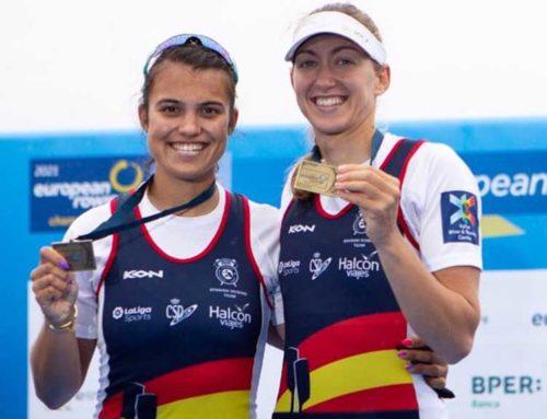 L'ampostina Aina Cid i Virginia Diaz es pengen la medalla de bronze a l'europeu