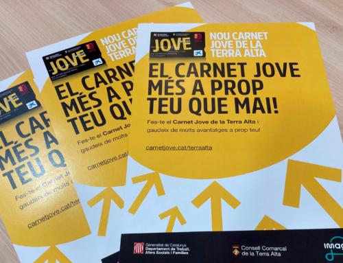 El Consell Comarcal de la Terra Alta i l'Agència Catalana de la Joventut presenten el Carnet Jove de la Terra Alta