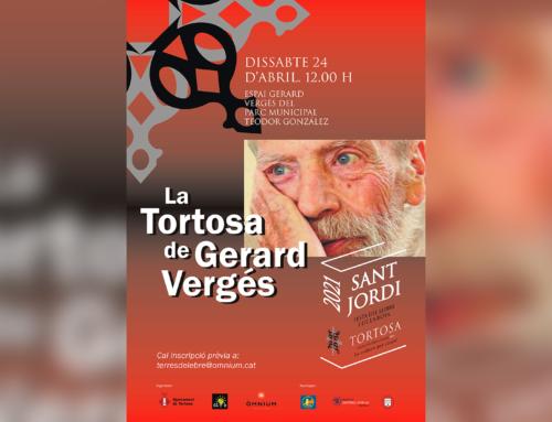 Òmnium Terres de l'Ebre celebra Sant Jordi amb un homenatge als escriptors a Josep Igual i Gerard Vergés
