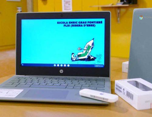 Endesa entrega 23 ordinadors amb targeta de connexió a l'escola Enric Grau Fontseré de Flix
