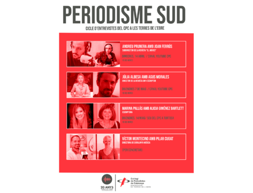 Comença el cicle d'entrevistes Periodisme Sud, amb Andreu Prunera i Joan Ferrús
