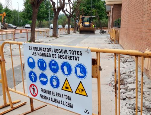 Comencen les obres d'urbanització dels carrers Mn. Manyà i Sebastià Juan Arbó, a la zona de Vora Parc de Tortosa