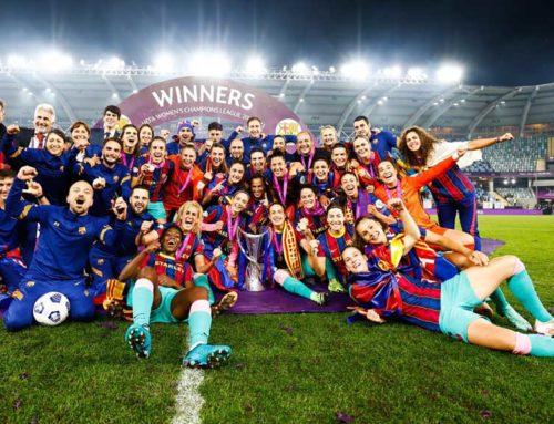 Rafel Navarro campió de la Champions amb el Barça Femení