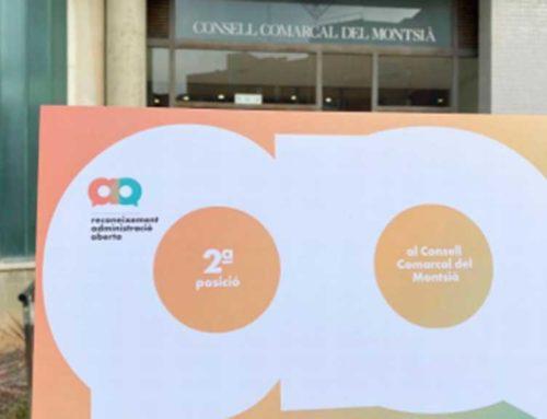 L'AOC atorga el 2n premi al Consell del Montsià com a ens comarcal capdavanter en l'impuls de l'administració digital i govern obert