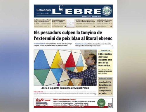 La crisi estructural del peix blau a la costa ebrenca, a la portada en paper del Setmanari L'EBRE