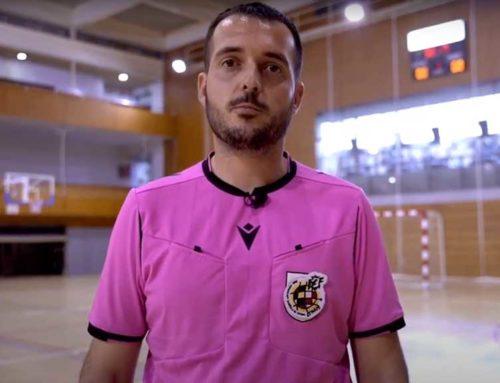L'ampostí Joan Solà (2a B) protagonista del vídeo de captació d'àrbitres de futbol sala