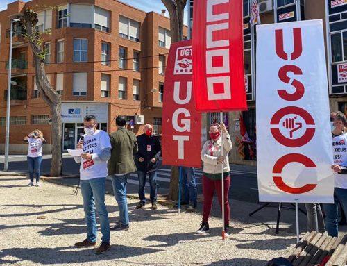 Els sindicats sol·liciten de nou la derogació de la reforma laboral en l'acte unitari del Dia del Treballador