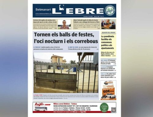 El retorn de l'oci nocturn, els balls de festa major i els correbous, a la portada de l'edició en paper del Setmanari L'EBRE