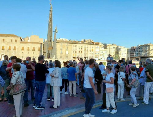 El debat sobre el monument franquista de Tortosa s'aviva pocs dies abans de retirar-lo