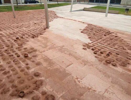 Metàfora final, i casual, del projecte Sediments d'Aula al Pati