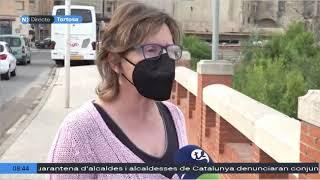 Tot a punt per l'inici dels treballs de retirada del monument franquista de Tortosa