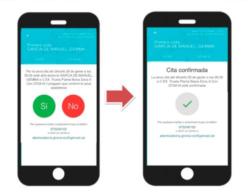 L'SMS interactiu per a les visites a l'Hospital Verge de la Cinta ja és una realitat