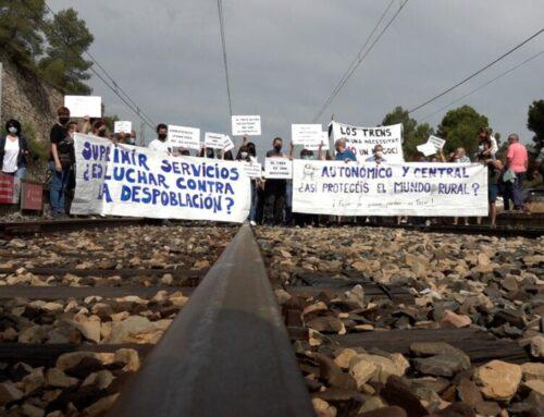 Tall de via a l'estació de la Pobla de Massaluca contra la pèrdua de freqüències cap a Barcelona i Saragossa