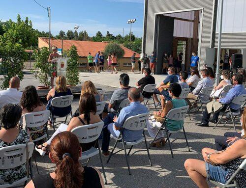 La presidenta de la Diputació inaugura el nou Pavelló Municipal de Tivissa