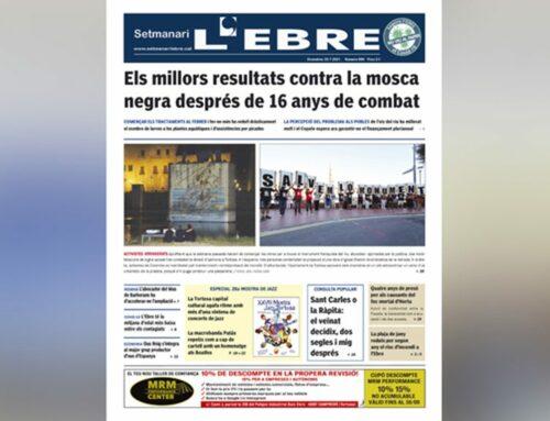 La lluita contra la mosca negra i la divisió d'opinions pel monument, a la portada de l'edició en paper del Setmanari L'EBRE