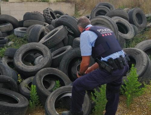 Denuncien una empresa de Tortosa per l'abocament il·legal de pneumàtics usats