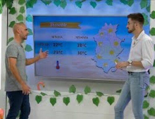 Àngel López i la previsió del temps, a l'Illa dels Flamencs.