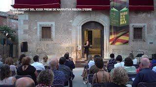 Lliurament del XXXIX Premi de Narrativa Ribera d'Ebre a Vinebre