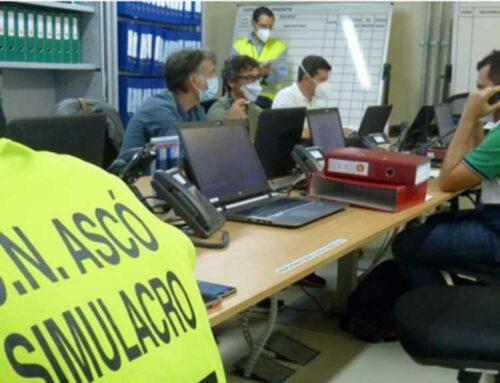 ANAV exercita la seva organització de resposta davant emergències en el simulacre anul de la central nuclear d'Ascó