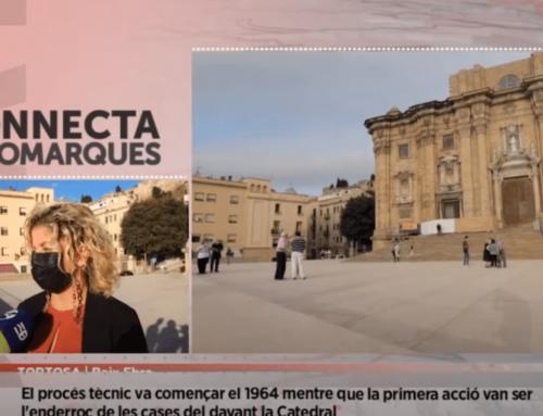 Fita històrica a Tortosa: Acaben les obres de la Plaça de la Catedral
