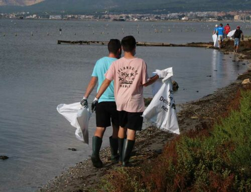 Una vuitantena de voluntaris recullen més de 460 quilos de residus a la badia dels Alfacs