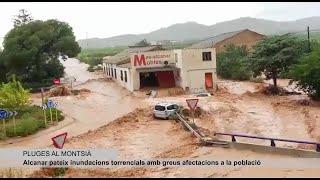 Especial recull d'imatges de les pluges torrencials a Alcanar