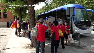 Sortida d'Autobusos de l'ANC de les Terres de l'Ebre en direcció a Barcelona per la Diada