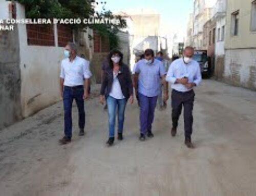 Visita de la consellera d'Acció Climàtica, Teresa Jordà a Alcanar
