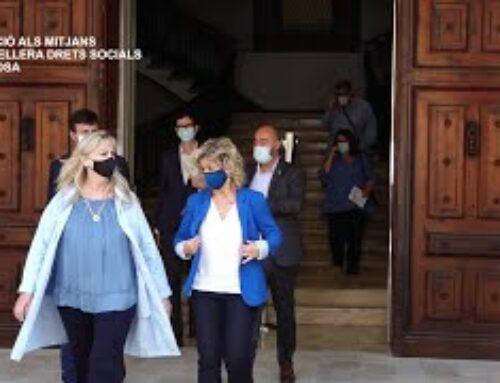 Visita i Atenció als Mitjans de la Consellera Drets Socials, Violant Cervera a Tortosa