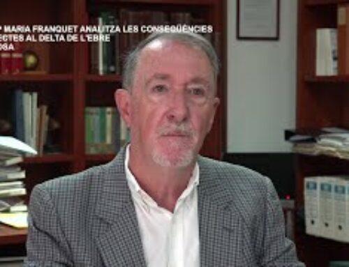 Josep Maria Franquet lamenta que es vulgui invertir en el Llobregat abans que al Delta de l'Ebre.