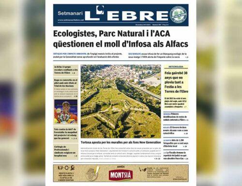 Els dubtes sobre el futur moll d'Infosa als Alfacs, a la portada de l'edició en paper del Setmanari L'EBRE