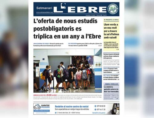 L'inici de curs, protagonista de la portada de l'edició en paper del Setmanari L'EBRE