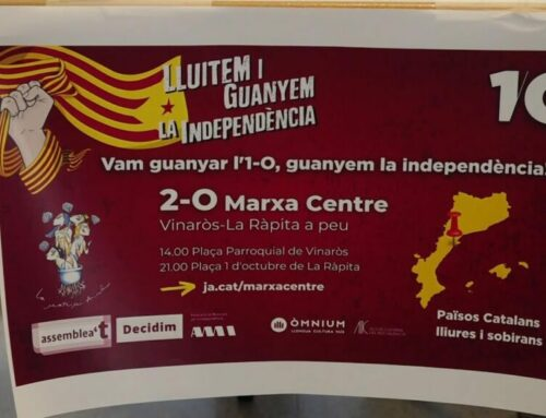 Roquetes i una marxa entre Vinaròs i La Ràpita: els actes centrals de l'1 d'octubre a l'Ebre