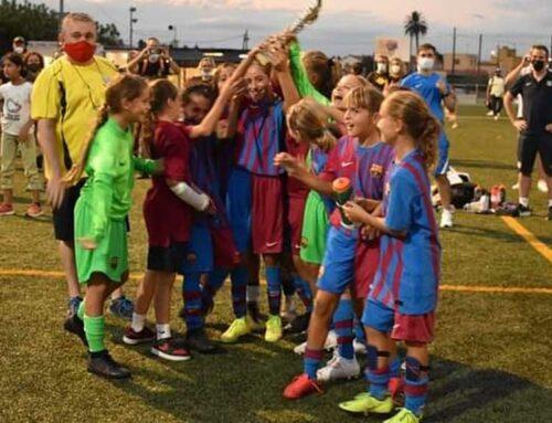 El FC Barcelona en aleví i el RCD Espanyol en infantil-cadet, guanyadors del torneig Sant Jaume Fèmines Cup