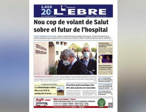 La revifada de la polèmica sobre el futur de l'hospital, a la portada de l'edició en paper del Setmanari L'EBRE