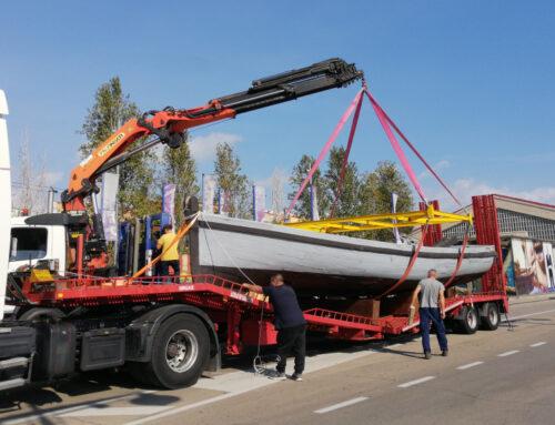 El Port Tarragona restaura el bot de cadenes, bastiment portuari, a les drassanes de Cambrils