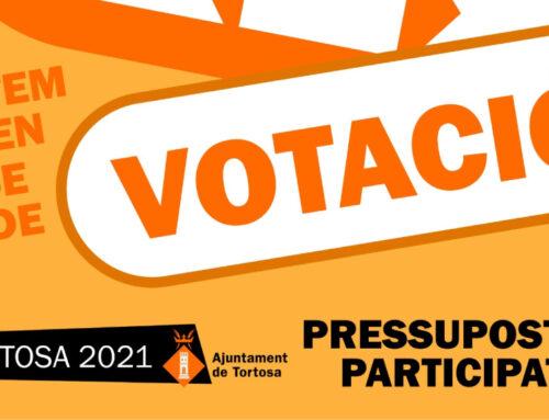 Els tortosins i tortosines ja poden votar on destinar els Pressupostos Participatius 2021