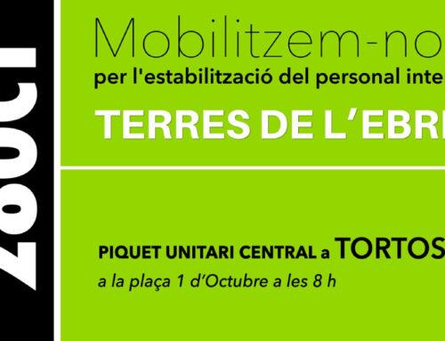 Presentació de la vaga de funció pública del 28 d'octubre per part d'USTEC i CATAC CTS CTE