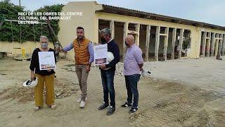 Presentació de l'inici d'obres del Centre Cultural del Barracot a Deltebre